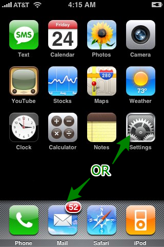 Mobile Email Setup Iphone Webs Support